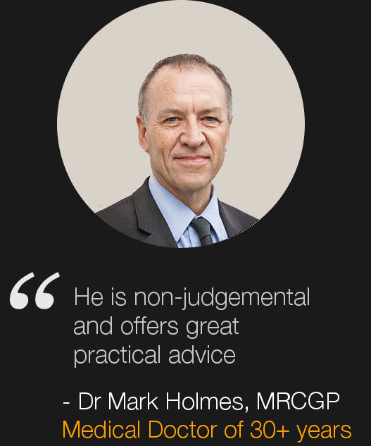 London Life Coach Nick Hatter's client Dr Mark Holmes