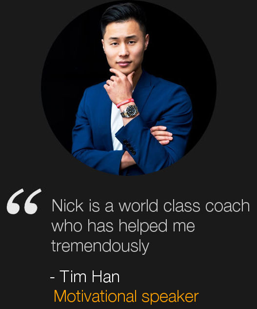 London Life Coach Nick Hatter's client Tim Han